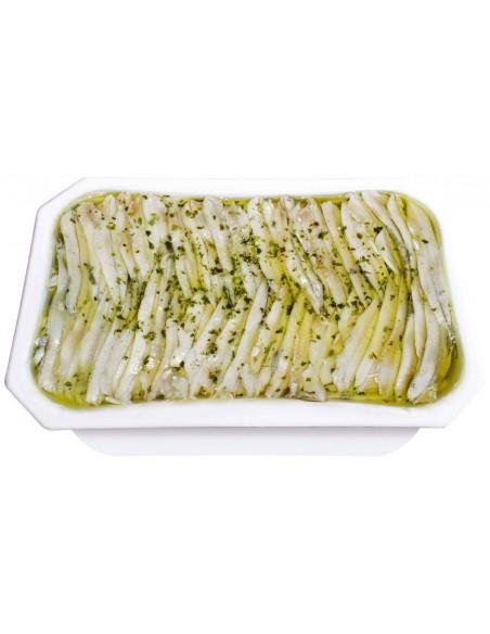 White Anchovy in Garlic, Vinegar & Olive Oil 17.63oz Conservas y Salazones Arlequin - 3