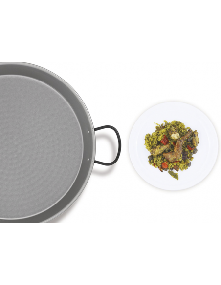 Paella Valenciana Polished Steel