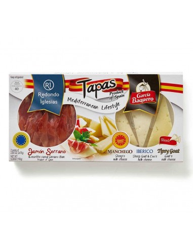 Jamón Serrano & Spanish Cheese Tapas Pack