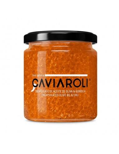 CAVIAROLI ENCAPSULADO Aceite de Oliva y Guindilla 200G
