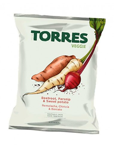 Torres Veggie Chips de remolacha, chirivía y boniato 90g