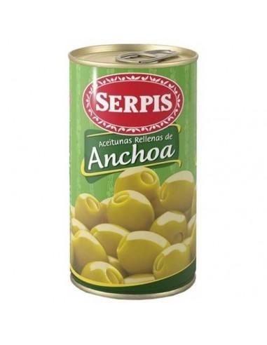 Aceitunas Rellenas Anchoa 150gr Serpis - 1