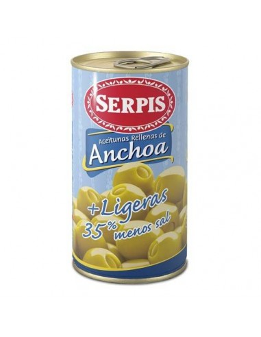"Serpis Anchovy Stuffed Olives ""Low in Salt"" Serpis - 1"