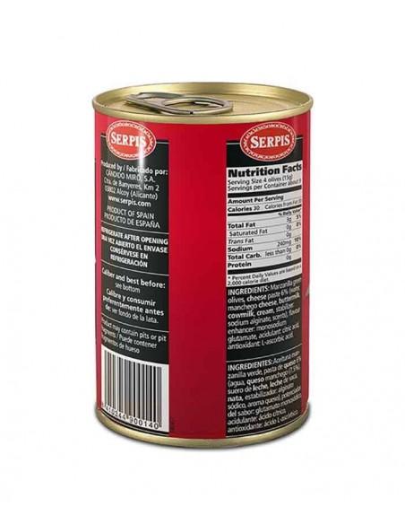 Aceitunas Rellenas Queso Manchego Serpis - 2