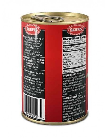 Aceitunas Rellenas Chorizo Picante Serpis - 2