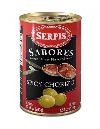 Aceitunas Rellenas Chorizo Picante Serpis - 1