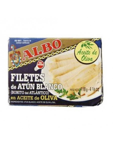 """Albo White Belly Tuna Fillets in Olive Oil """"Ventresca"""" Conservas Albo - 1"""