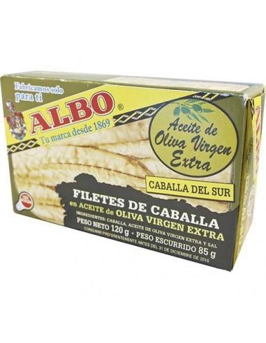 Filete de Caballa en Aceite de Oliva Virgen Extra Conservas Albo - 1