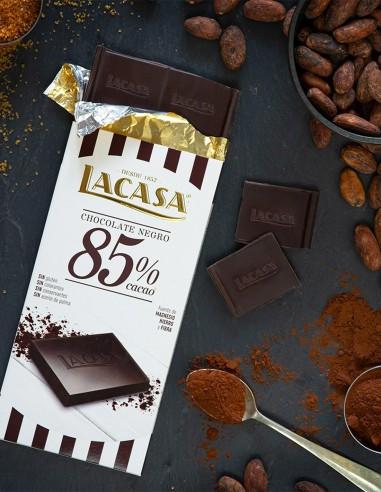 Tableta Chocolate Negro 85% 100g LA CASA