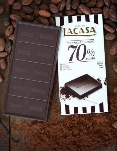 Tableta Chocolate Negro 70% Gluten...