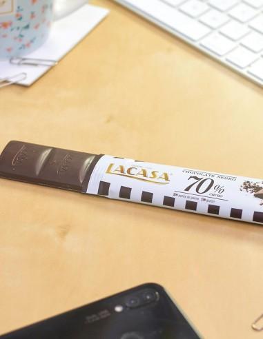 Barritas Chocolate Negro 70% 25g