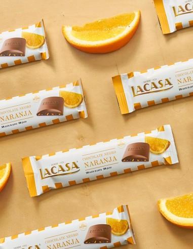Dark Chocolate with Orange 25g by LACASA
