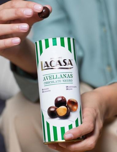 Bote Avellanas con Chocolate Negro LA...
