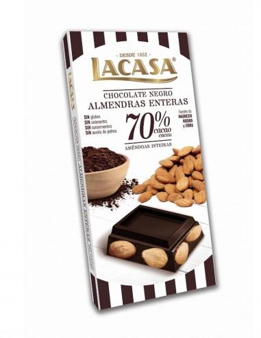 Dark Chocolate w/whole Almonds 200g