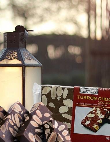 Turrón Chocolate Almond Nougat 300g....