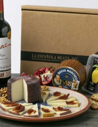 Holiday Gift Box 1 - Cheese & Wine Box
