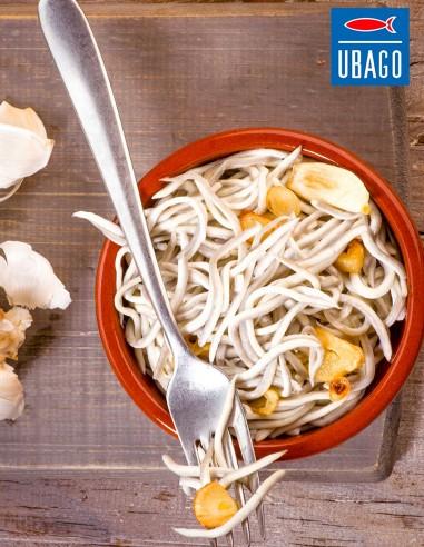 Ubago Surimi Baby Eels with Garlic 7oz
