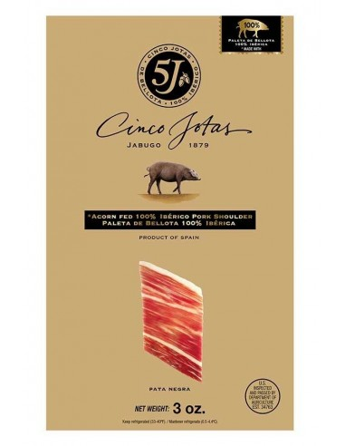 Hand Sliced Acorn-fed Iberico Shoulder Jabugo 3 oz CINCO JOTAS - 1