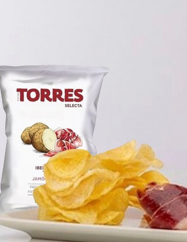 Torres Potato Chips Iberian Ham...