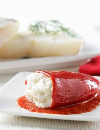 Piquillo Peppers stuffed with Cod...